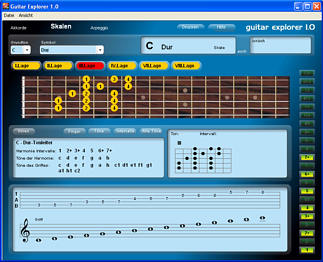 Gitarrengriffe Software